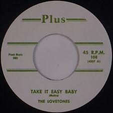 LOVETONES: Take it Easy Baby PLUS Doo Wop NEAR MINT 70s REPRO 45