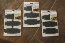 Lot of 18 (3 pkgs.) Chalkboard Display Jar Labels from K&Company! Nice & Thick!