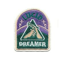 "LUCID DREAMER IRON ON PATCH 3"" Embroidered Applique Metaphysical Enlightenment"