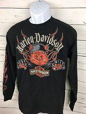 Men Harley Davidson Concord NC Graphic Long Sleeve Shirt Motorcycles Sz Medium