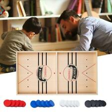 Puck Game Fast Sling Wooden Durable Air Hockey Board Game Toy Parent-child
