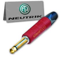 """Neutrik NP2X-AU-SILENT 1/4"""" Guitar Plug TS Mono Silent Switch Gold 6.35 NO POPS"""