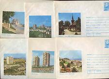 Romania 1975, 6 Unused Stationery Pre-Paid Envelopes Covers #C21417