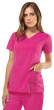 Dickies Junior Women Fit New V Neck Front Patch Pockets Medical Scrub Top. 82851
