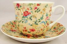 Cream Petite Bombay Large Cup & Saucer Bone China Breakfast Set Decorated UK