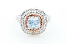2.67ct Natural Blue & Argyle 6pp Fancy Pink GIA Diamonds Engagement Ring 18K SI1