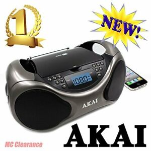 Akai CD/AM/FM Line in function AUX Portable Boombox CE2000 with LCD Display +...
