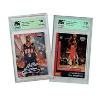 Zion Williamson 2019 Panini Instant #76 Lebron James 2003 USA Rookie Card PGI 10