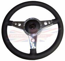 """New 14"""" Leather Steering Wheel w/ Adaptor Hub Jaguar XJ6 1974-87 XJS Moto-Lita"""
