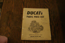 Ducati Parts Price List 1977 berliner bevel squarecase roundcase 900ss 750 gt ss