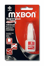 MXBON Superglue Liquid Bottle with Brush 5g