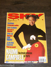 Vintage Very Rare 90's UK SKY Magazine  December 1990 - Naomi Campbell - Madonna