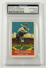 1933 DeLong Gum Reprint Riggs Stephenson Signed Card PSA/DNA Auto Slabbed