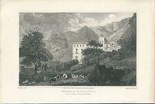 1823 SANTA ROSALIA MONTE PELLEGRINO Palermo Peter De Wint acquaforte Major Light