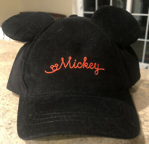 New Toddler Boys Disney Mickey Mouse Hat With Ears