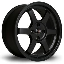 BLACK 15X7 +38 ROTA GRID 4X100 RIM FIT MIATA INTEGRA AVEO SCION IQ XA XB PROTEGE