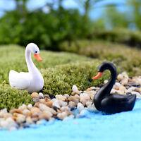 Mini Adorno de jardín cisnes Miniatura Figurita Planta Maceta Jardín Decorac*ws