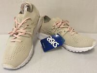 Asics Gel-Kayano Knit Womens Size 11 Tan with Pink Laces Running Shoes H7N6N