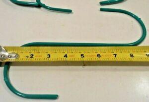 """S HOOKS 2PC. (2)10"""" INCH JUMBO STEEL GREEN  S-HOOKS PVC COATED PLANT HANGER"""