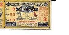 1931 Philadelphia A's-Cardinals World Series Ticket Stub Game 3 Grimes Stars!!