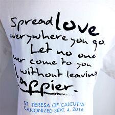 Mother Theresa Of Calcutta T-Shirt Sz Small Spread Love Quote Canonized C2BA-9