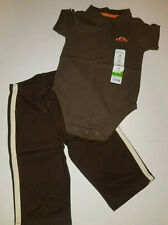 New Jumping Beans Boys 2 Piece Set Size 12 Months Pants Shirt Bodysuit Clothing