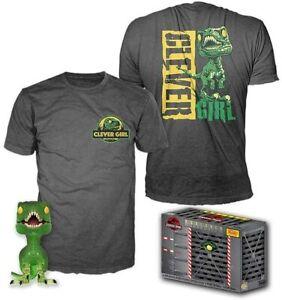 Jurassic Park - Velociraptor Funko Pop! & Tee Exclusive - Size L #888 BNIB