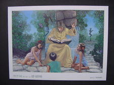 "1984 CARL LUNDGREN Limited Color Art Plate 3 ""SUMMER"" from Seasons of Wizardry"