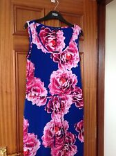 MARKS AND SPENCER BLUE / FLORAL MAXI DRESS SIZE 10 PETITE BRAND NEW WITH TAGS