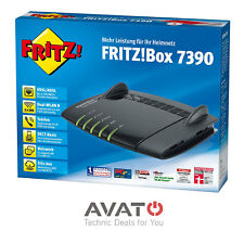 AVM FRITZBox 7390 Schwarz DEUTSCHE VERSION VDSL MODEM DECT / WLAN REPEATER