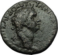 DOMITIAN 81AD Perinthus Thrace DIONYSUS Wine God Ancient Roman Coin i59322