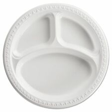 """Chinet Heavyweight 10.25"""" Plastic Compartment Plates  - HUH81230"""