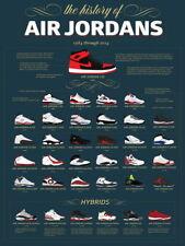 V8934 Air Jordan History - Jumpman Shoes Sneakers Art PRINT POSTER Affiche