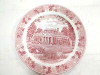 "Red/White MONTICELLO VA Thomas Jefferson Plate 7"" Jonroth Staffordshire England"
