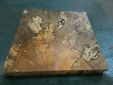 MM-SPALTED  MAPLE  DELUXE  KNIFE BLOCK/SCALES/ CALLS/ PEN BLANKS--M--18