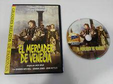 EL MERCADER DE VENECIA DVD SLIM CASTELLANO ENGLISH + EXTRAS JACK GOLD