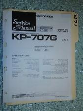Pioneer kp-707g service manual original repair book stereo car radio tape