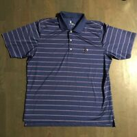 F&G Tech Golf Polo Shirt Embroidered Flying Witch Blue Pink Men's Size 2XL