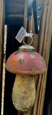 NEW Anthropologie Terrain Pink Silver Gold Cap Glass Mushroom Ornament Sold Out!