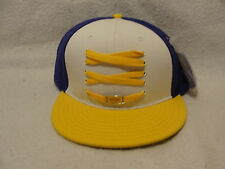 L.A. Lakers lace up hat with emblem size 7 3/8 purple white and yellow Lacerwear