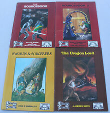 Vintage Chivalry and Sorcery Sourcebook 1 & 2 Swords Sorcerers Dragon Lord RPG
