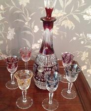 Decanter and 6 Matching Liqueur Glasses Set