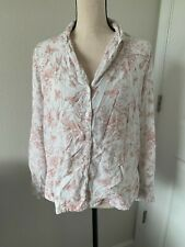 TOPSHOP Women's White & Pink Floral Pajama Top Size US 6