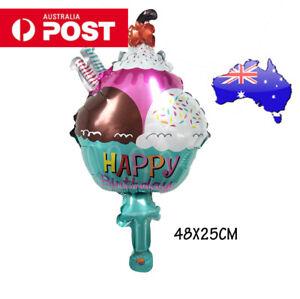 1x Ice cream shape foil balloon decoration birthday baby shower bachelorette big