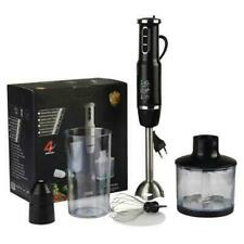 Multi-Purpose 4 in 1Immersion Blender 3-Speed Hand Blender with Leaf Stainless
