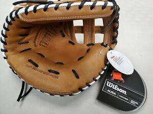 Wilson Aura Catchers Glove Softball 33`` RHT Brown/White(A09RF20FPCM)New w/Tags