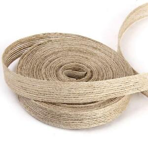 10M Natural Jute Hessian Burlap Ribbon Rustic Weddings Strap Decor Floristry