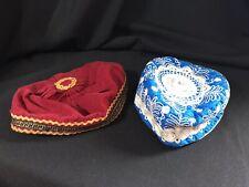 2 Vintage Jewish Yarmulke Kippah Smoking Hats