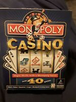 Monopoly Casino CDROM Game 1999 rated E with Mr Pennybags Watch NEW (big box)
