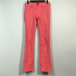 J Crew Jeans Women Size 25 Pink MATCHSTICK Straight Denim